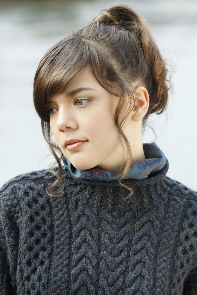 Irish Moss hand knitwear design by Alice Starmore from the book Aran Knitting
