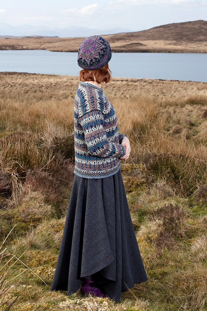 Alba hand knitwear design by Alice Starmore from Virtual Yarns