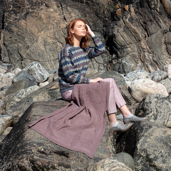 Hand Knitwear designs Alba and Dunadd by Alice Starmore in Virtual Yarns Hebridean Yarn