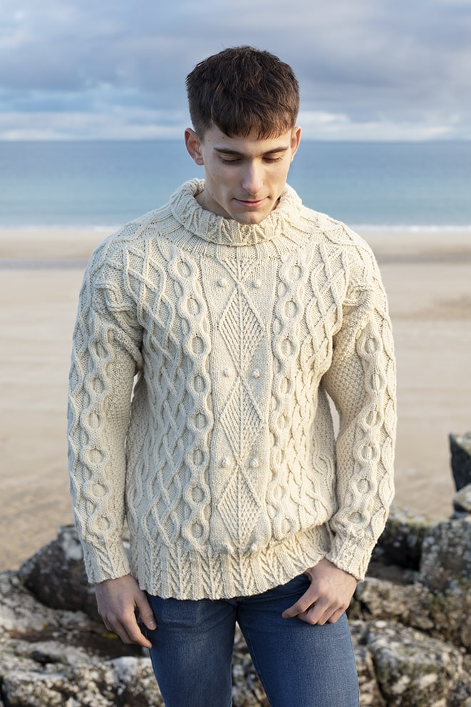 Aranmor hand knitwear design by Alice Starmore from the book Aran Knitting