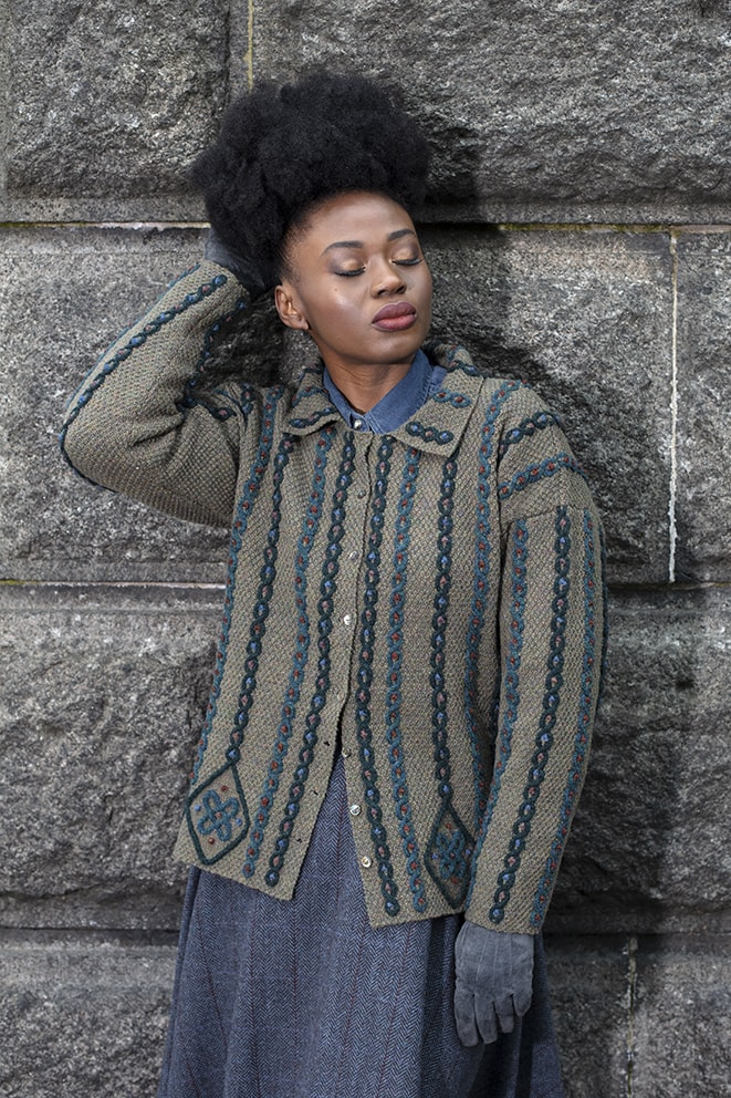 Boudicca's Braid hand knitwear design by Alice Starmore from the book Aran Knitting