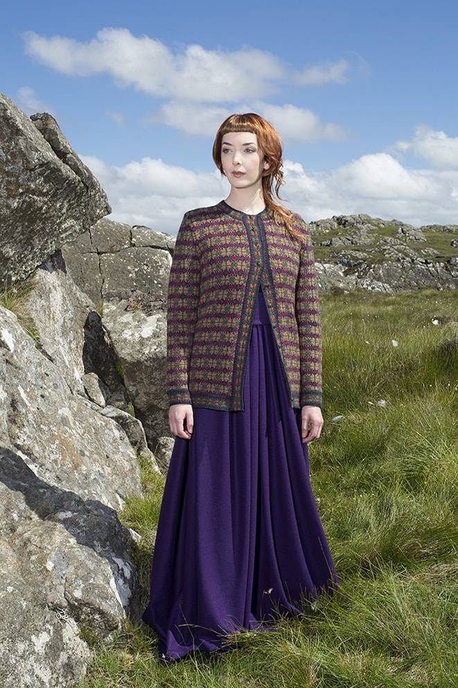The Cailleach hand knitwear design by Alice Starmore from the book Glamourie