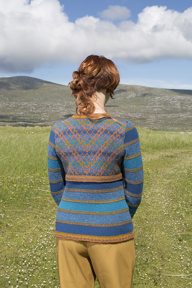 The Damselfly hand knitwear design by Alice Starmore from the book Glamourie