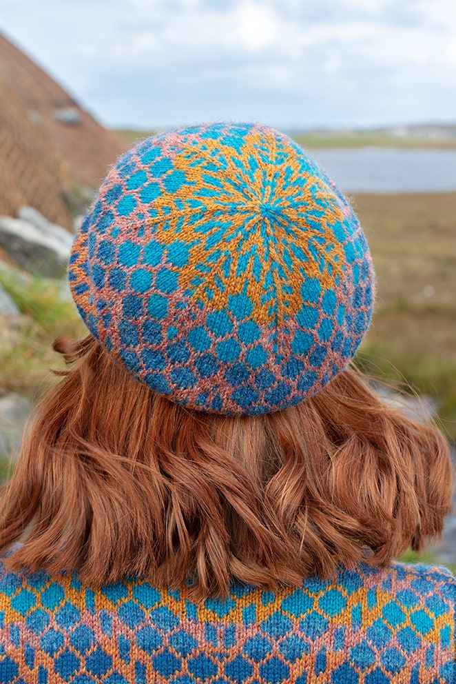 Damselfly hand knitwear design by Alice Starmore for Virtual Yarns