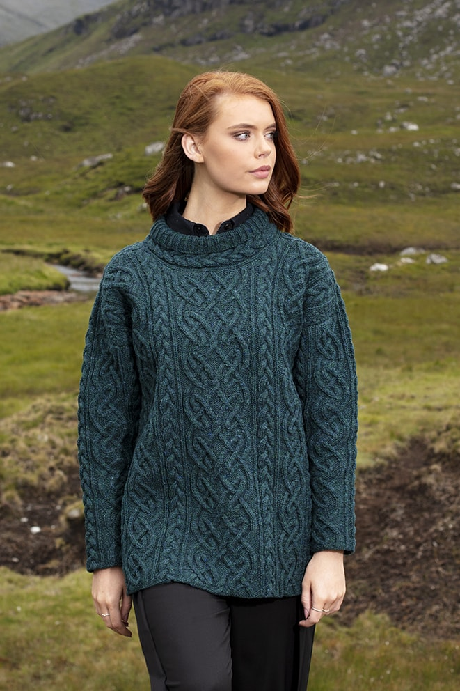 St Brigid hand knitwear design by Alice Starmore from the book Aran Knitting