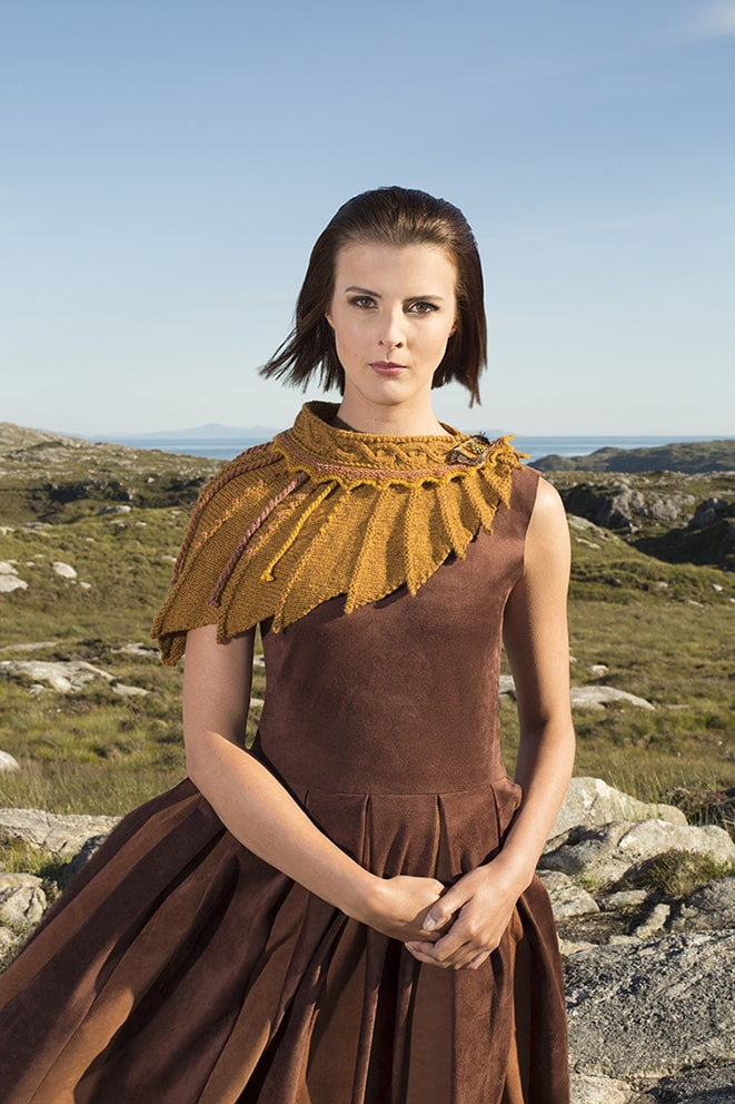 The Eagle hand knitwear design by Alice Starmore from the book Glamourie