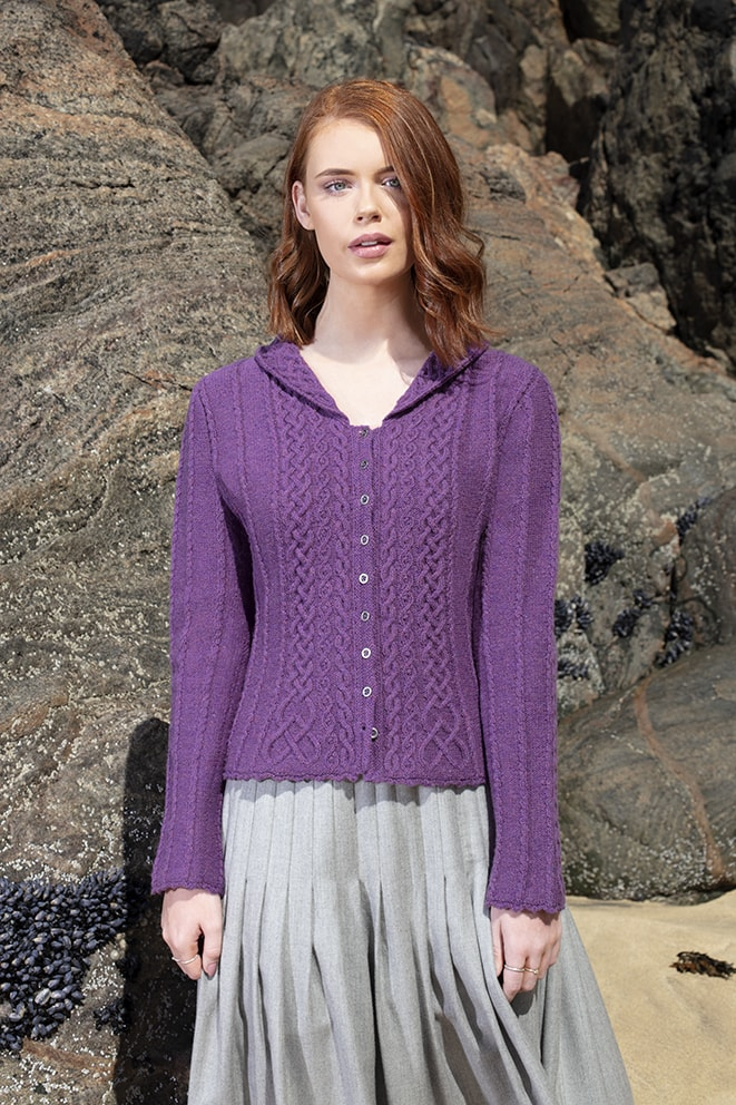 Eala Bhan hand knitwear design by Alice Starmore from the book Aran Knitting