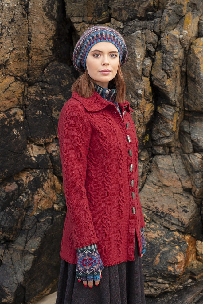 Graceknot and Marina hand knitwear designs by Alice Starmore from Virtual Yarns