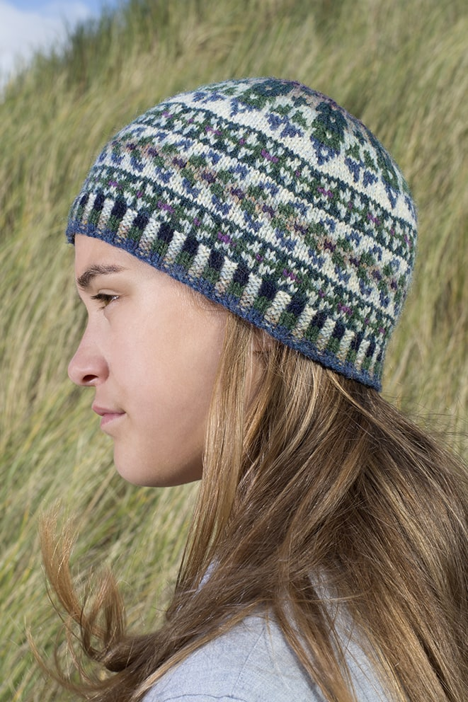 Hat Trick hand knitwear design by Alice Starmore for Virtual Yarns