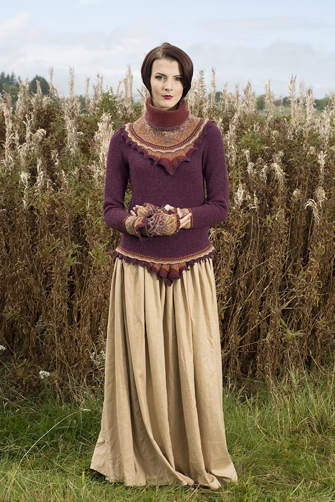 Herald hand knitwear design by Alice Starmore for Virtual Yarns