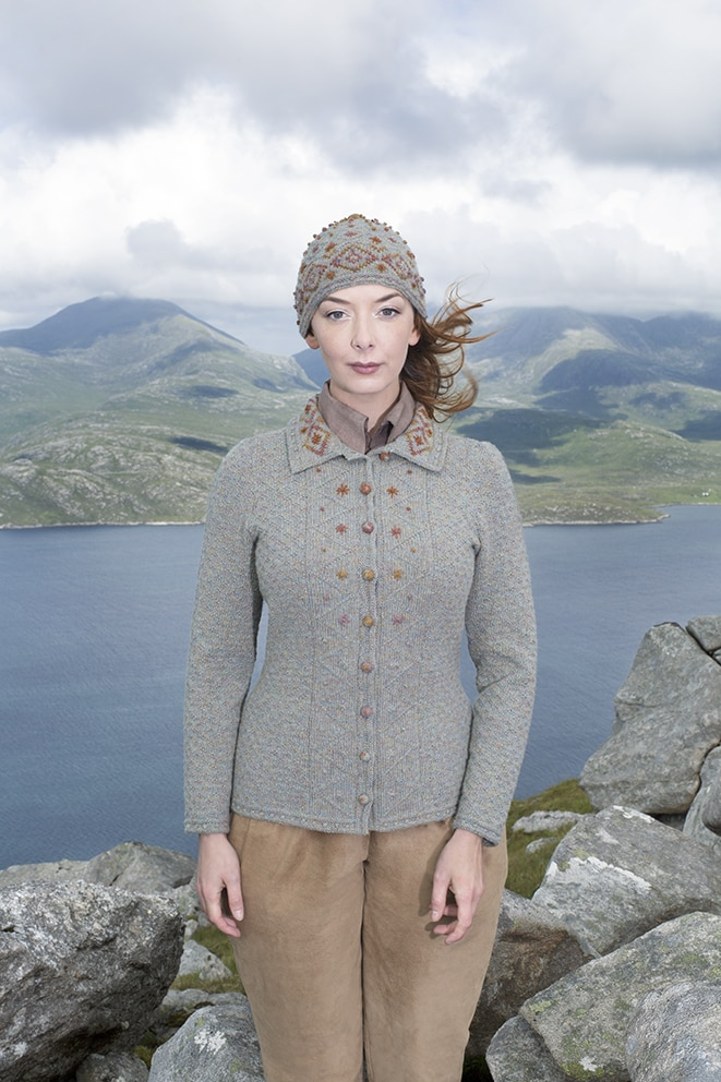 The Mountain Hare hand knitwear design by Alice Starmore from the book Glamourie