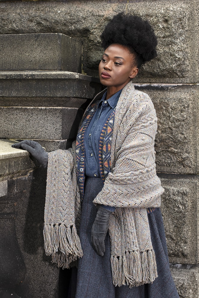 Maidenhair hand knitwear design by Alice Starmore from the book Aran Knitting