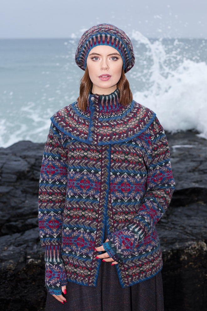 Marina hand knitwear design by Alice Starmore for Virtual Yarns