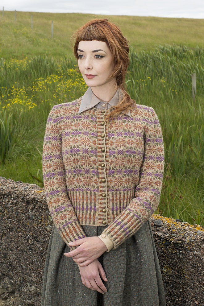 Meadowsweet hand knitwear design by Alice Starmore for Virtual Yarns