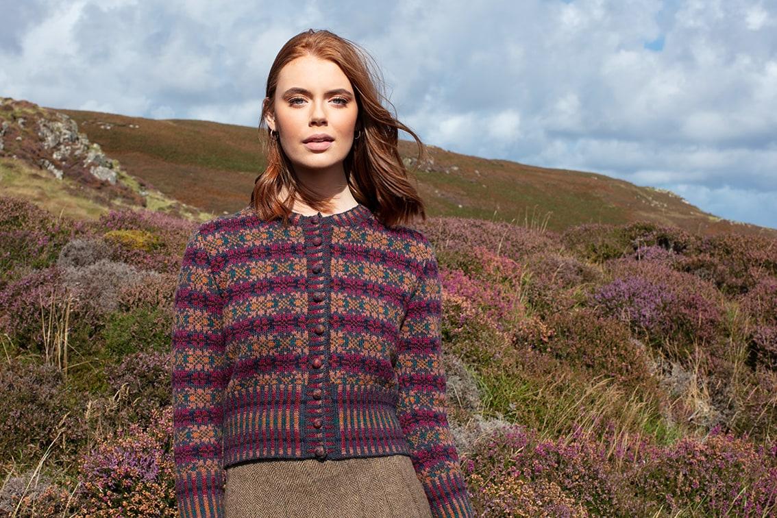 Mòinteach hand knitwear design by Alice Starmore for Virtual Yarns