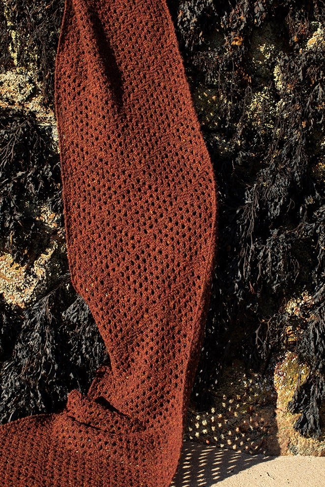 Shoreline Scarves hand knitwear designs by Alice Starmore from Virtual Yarns