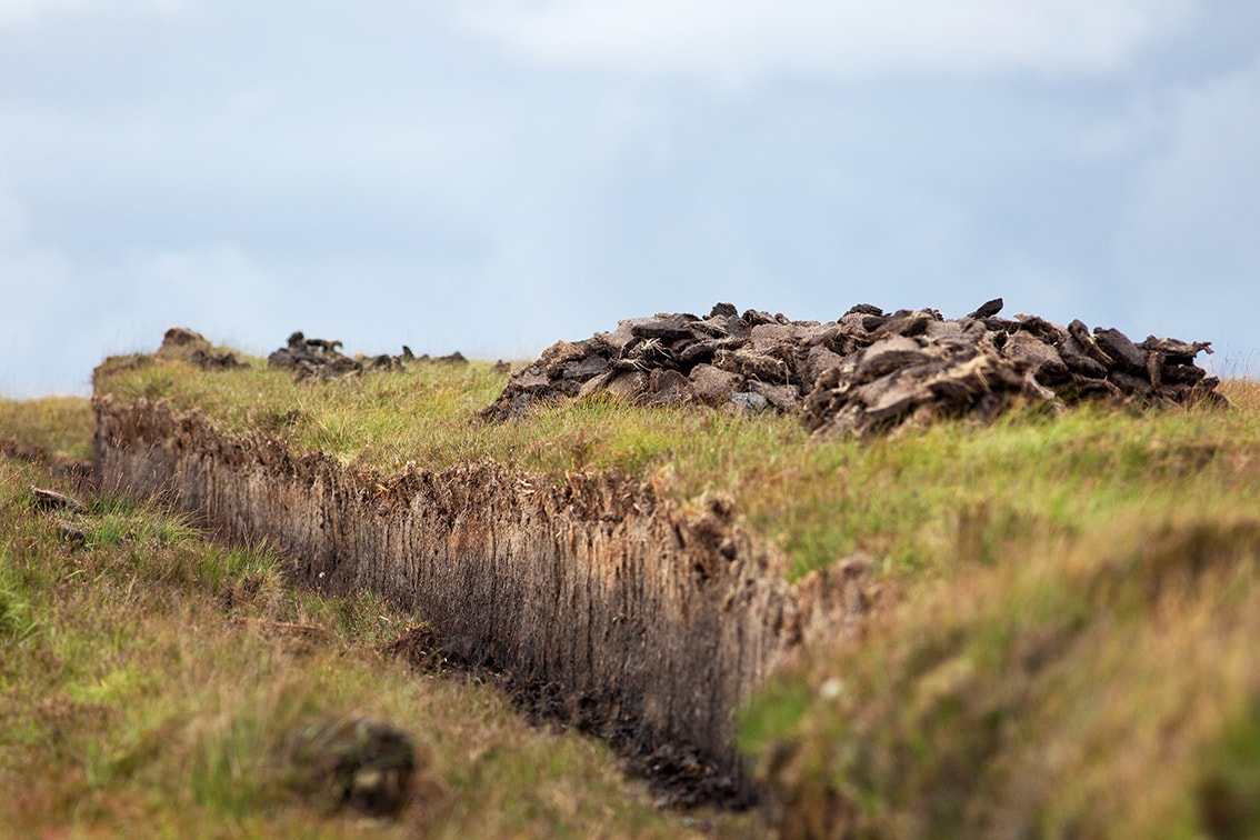 Peat banks on the Lewis moorland