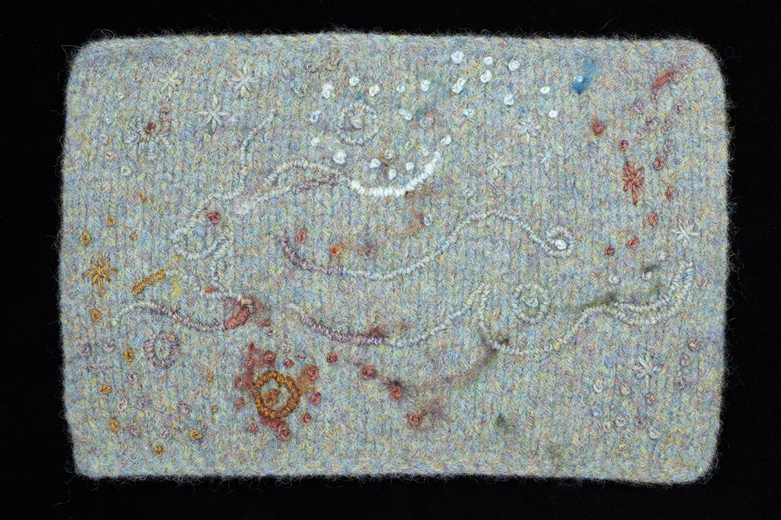 Textile Art details from the book Glamourie by Alice Starmore