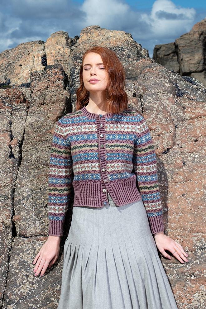 Peigi hand knitwear design by Alice Starmore for Virtual Yarns