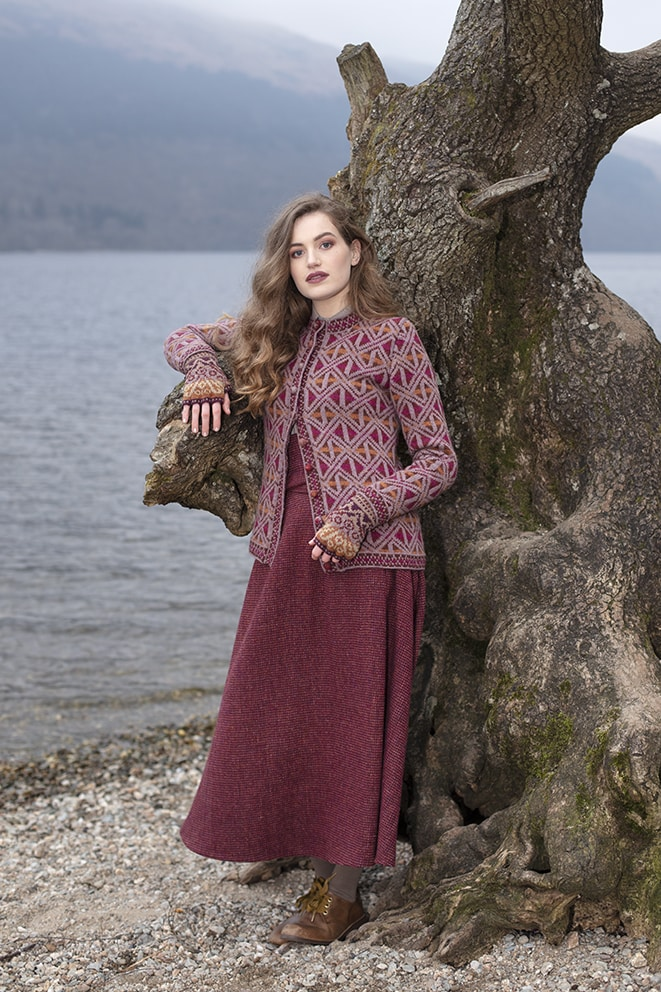 Rosemarkie hand knitwear design by Alice Starmore from Virtual Yarns
