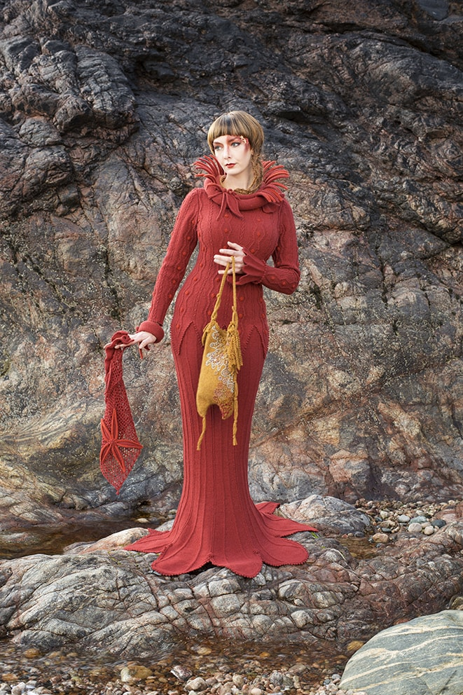 The Sea Anemone costume, textile art by Alice Starmore from the book Glamourie