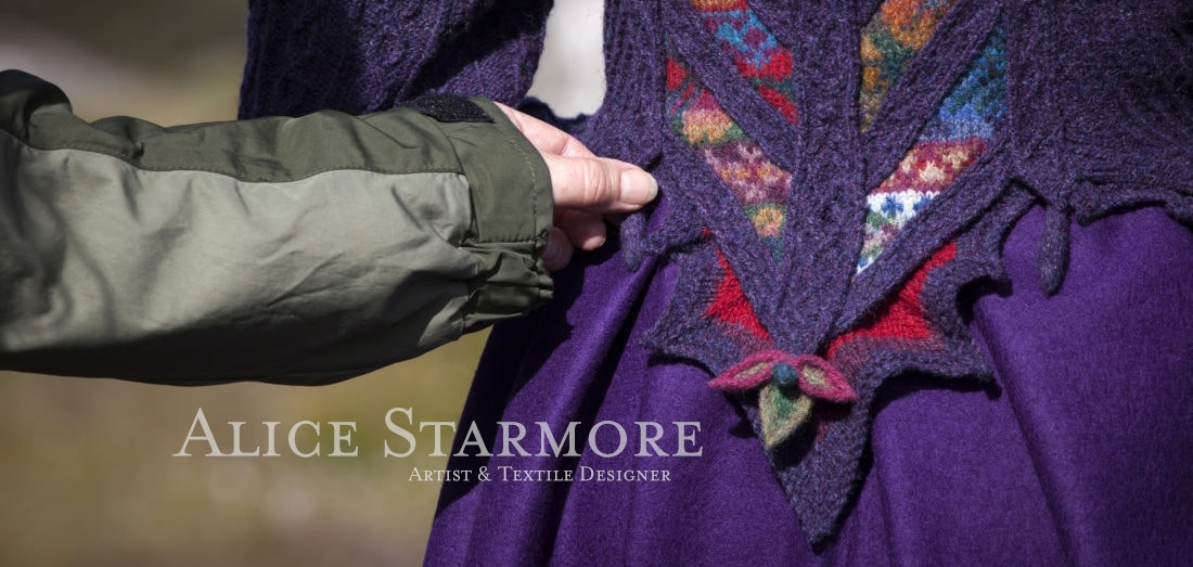 The Cailleach Costume by Alice Starmore from the book Glamourie