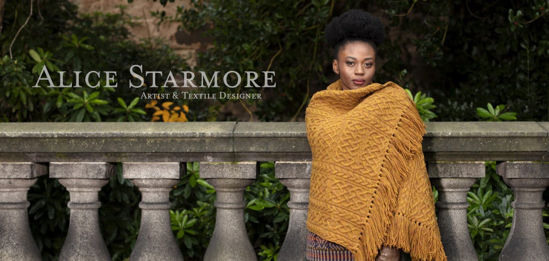 The St Ciaran hand knitwear design by Alice Starmore from the book Tudor Roses