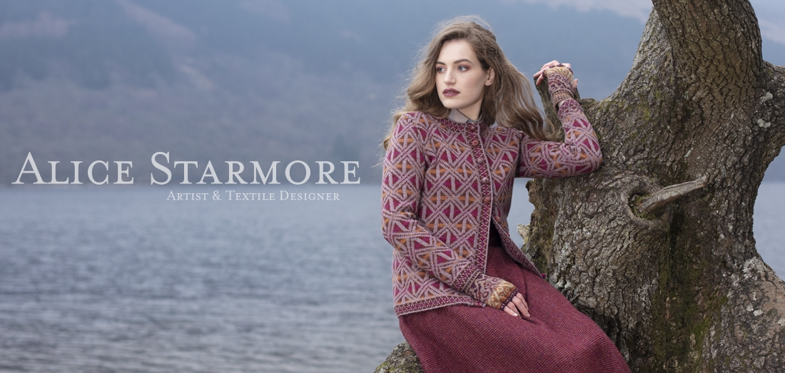 Rosemarkie hand knitwear design by Alice Starmore for Virtual Yarns