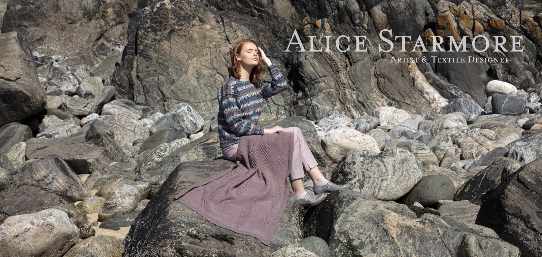 Alba and Dunadd hand knitwear designs by Alice Starmore for Virtual Yarns