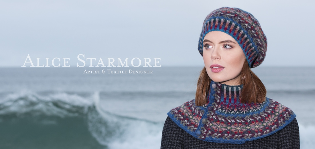 Marina Hat Set hand knitwear design by Alice Starmore for Virtual Yarns