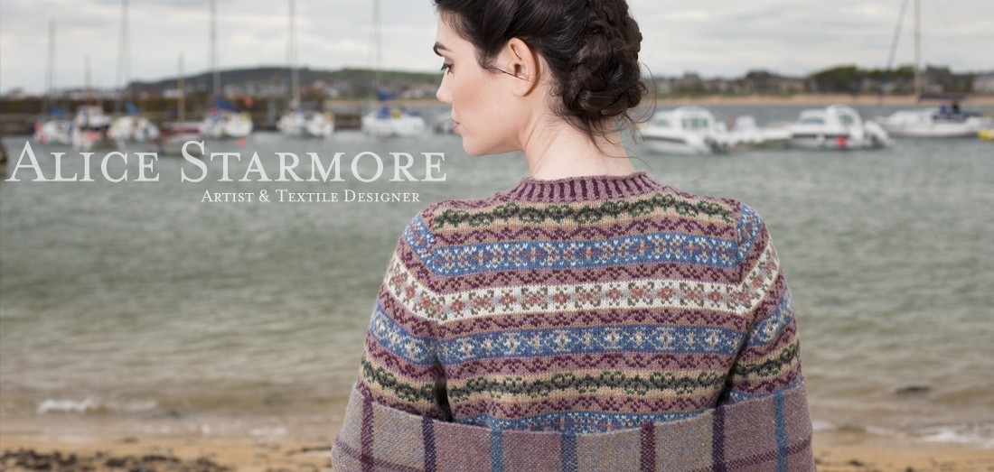 Peigi hand knitwear design by Alice Starmore for Virtual Yarns