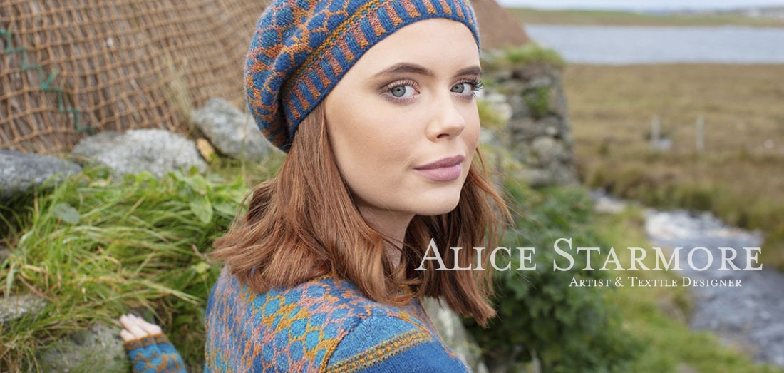 Damselfly hand knitwear design by Alice Starmore for Virtual Yarns