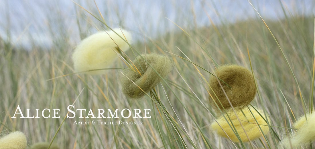 Natural dyed yarn using Hebridean lichens and plants by Alice Starmore