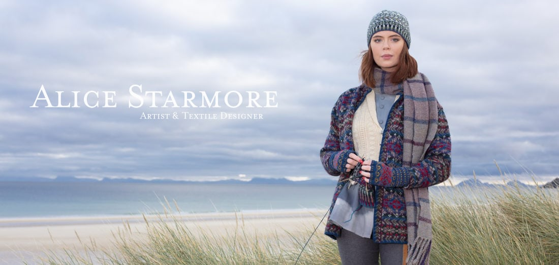 Marina, Scapa and Hat Trick hand knitwear designs by Alice Starmore for Virtual Yarns