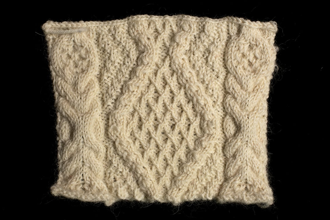 Original Hand Knitwear design swatch by Alice Starmore